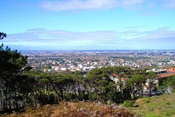 View across to Rondebosch as seen from University of Cape Town (UCT), Cape Town\'s Southern Suburbs, Western Cape